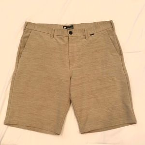 Men's Hurley Dri-Fit Shorts in Khaki Size 34